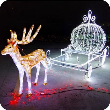 outdoor xmas outside christmas lighted reindeer yard decorations