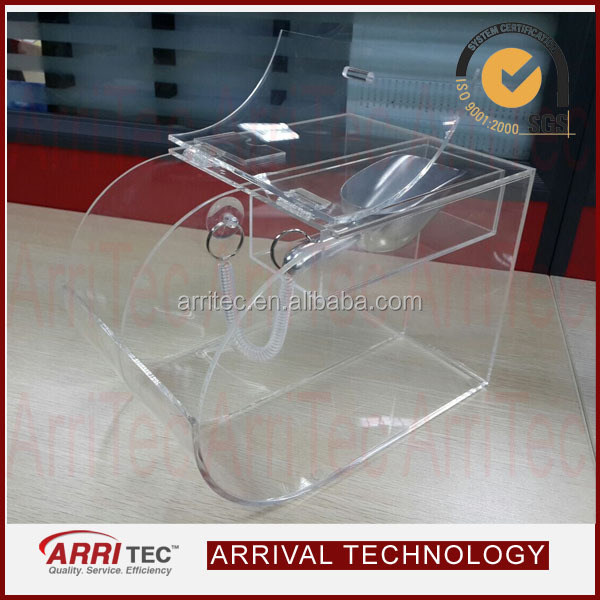 Stackable Round Face Transparent Acrylic Two Case Acrylic Bulk Bin ...