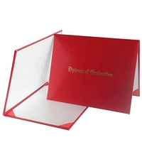 Red Custom Paper Diploma Cover for Graduation
