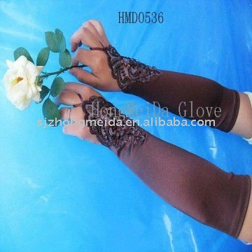 HMD--536 High Quality Bridal Gloves For Wedding Dress Evening Dress Party Dress Stretch Polyester