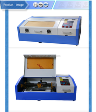 40W CO2 laser engraving machine 300*200 for rubber/stamp/paper/ wood / leather