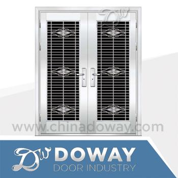 Stainless Steel Grill Door Design Double Door Entrance Price