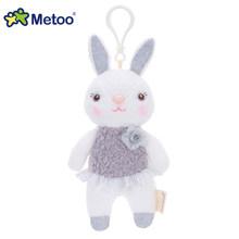 Metoo Кукла Мягкие игрушки Плюшевые животные мягкие детские игрушки для детей Девочки Мальчики Kawaii Мини Анжела кролик кулон брелок(Китай)