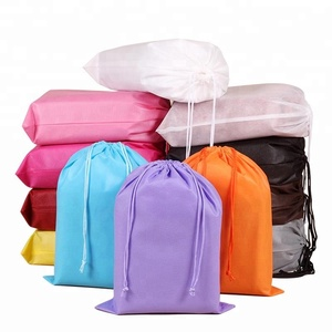 Cheap Non Woven Plain backpack Drawstring Bag