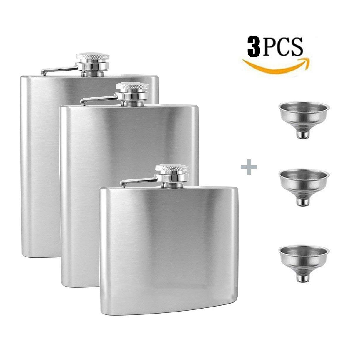 304 Retro Portable Hip Flask Alcohol Flagon Outdoor Fishing Camping Military