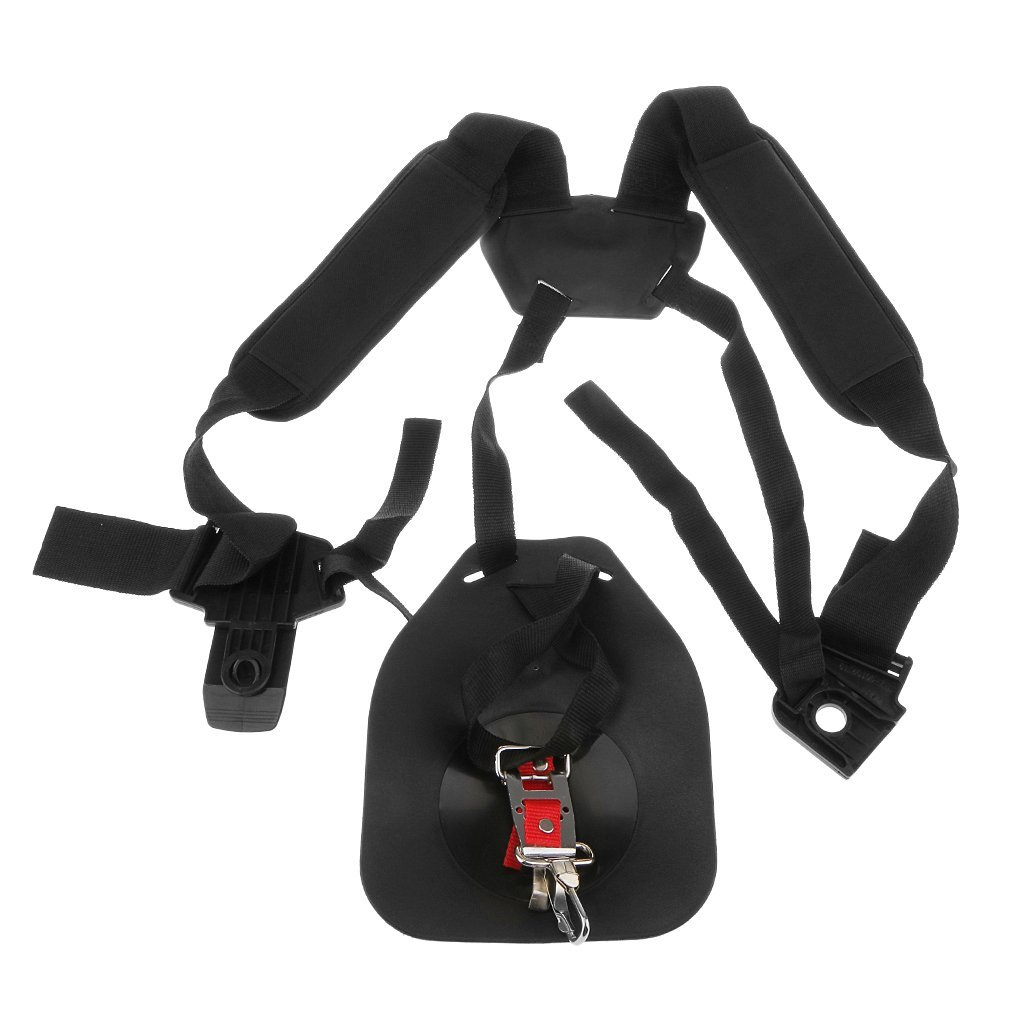 Adjustable Double Shoulder Harness Strap Belt BrushCutter Grass Trimmer Strimmer