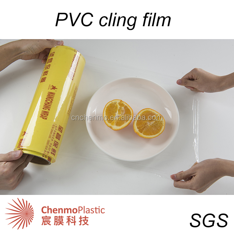 China zacht plastic wrap pvc cling transparante film voor food grade