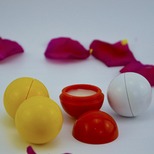 hot sale ball shape round shape lip balm with low price for promotion