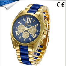 2017 Fashion Stainless Steel Analog Geneva Women Men Watches Quartz Wristwatch GW005
