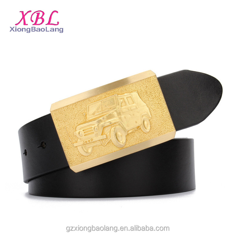 XBL Pure Copper Car Buckle Mens Belts Real Cow Leather Belt XB-M015