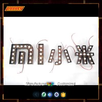 Waterproof Bulb Decoration Iluminated Led Vintage Marquee Sign