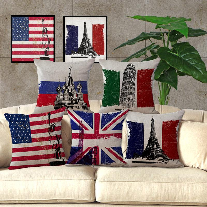 The Flag Decorative Pillow Covers Cushion Cover Kooshen For
