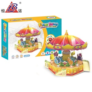Alibaba hot selling 3d carousel paper puzzle toy factory