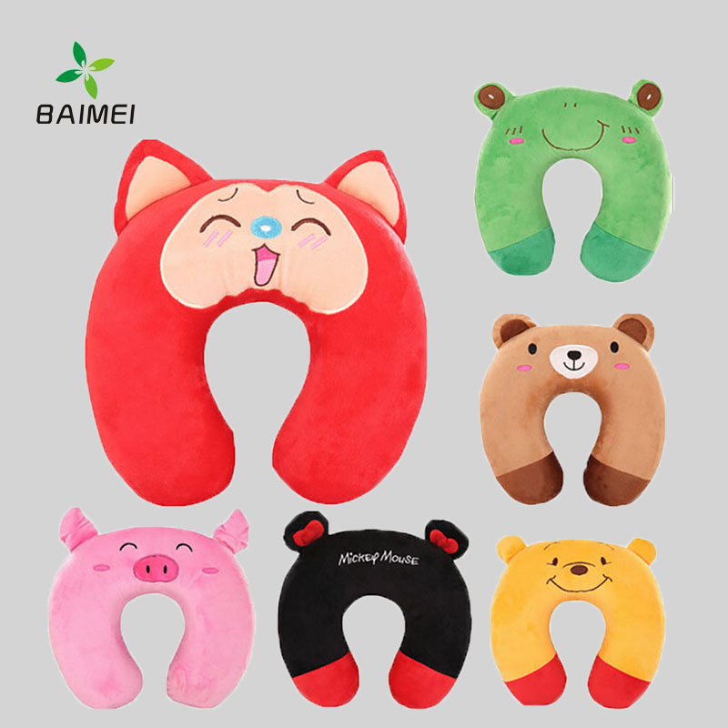 Soft and Comfortable Travel Neck Pillow With Cute Animals Cartoon