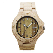 Latest style miyota 2115 movement bamboo watch men ,accept paypal