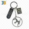 promotional custom made metal engraved animal keychain