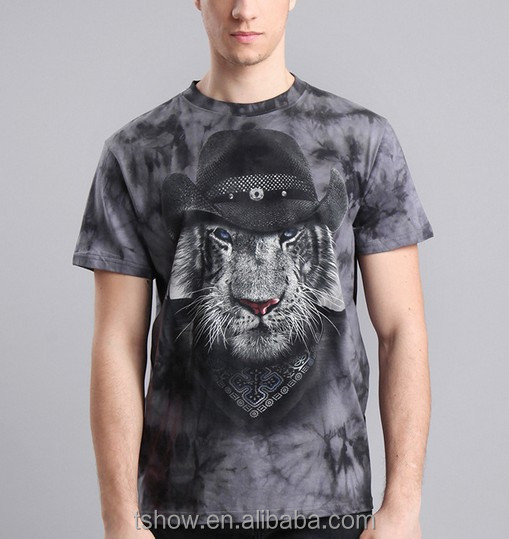 discharge print combed cotton mens hip-hop polo t shirt
