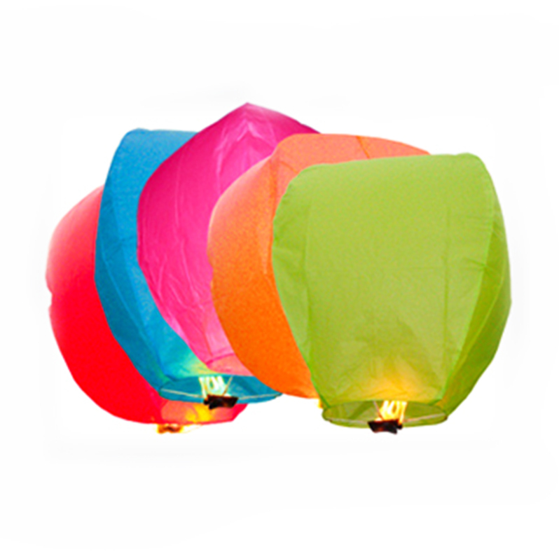 10Pcs Multi-Color Paper Chinese Lanterns Fire Sky Fly Candle Lamp For Birthday Wish Party Wedding Decoration  Hot Air Balloon