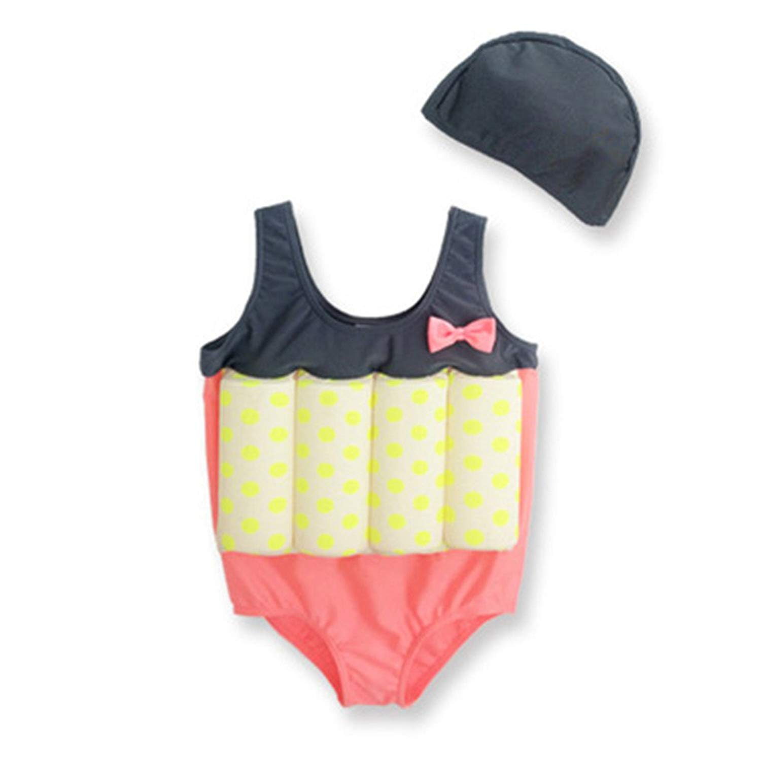 6b807e50b5 Get Quotations · One Piece Swimwear for Baby Kids Detachable Float Swimsuit  Girl Learn to Swim Safely