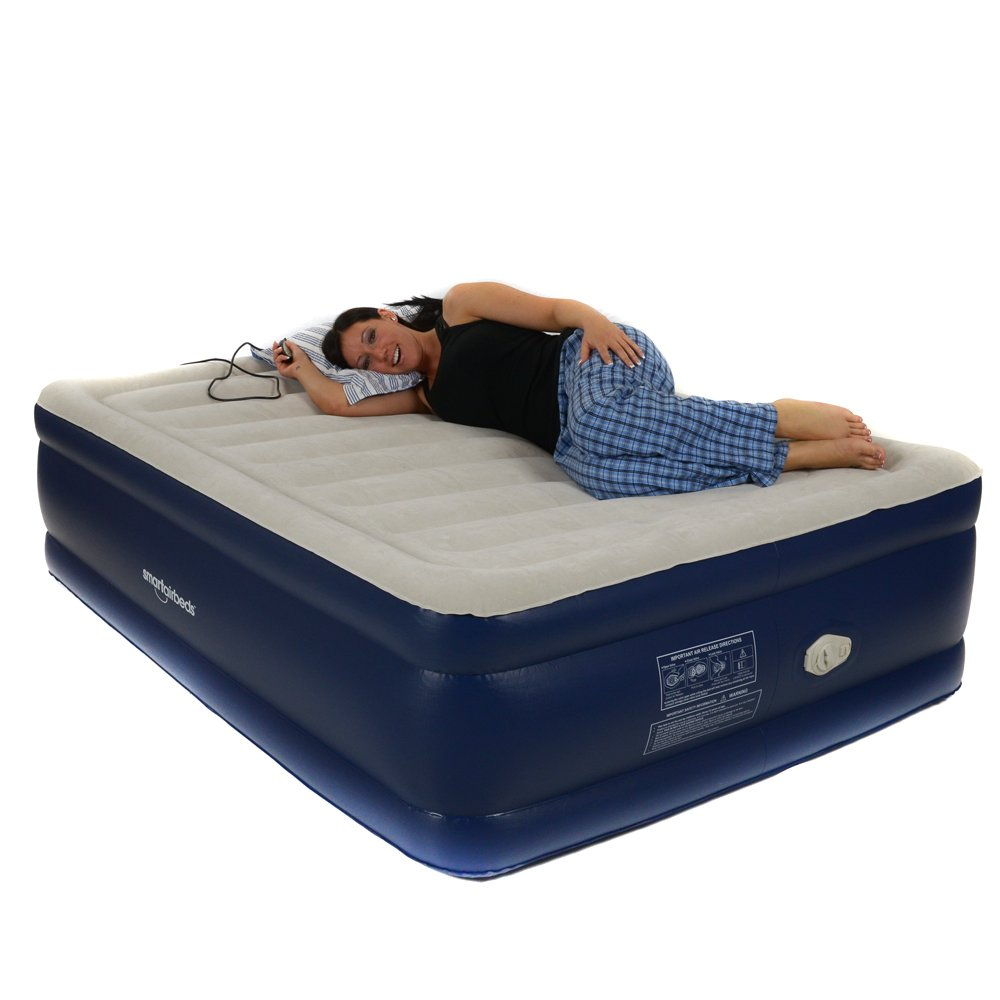 Smart Air Beds Platinum Full Raised Air Bed with Remote Control, Blue