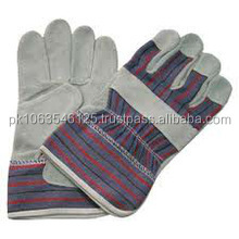 Welding Gloves / Safety Leather Glove / Work Leather Working PVC Dotted Glove, Working PVC Dotted Glove, Mechanical work gloves