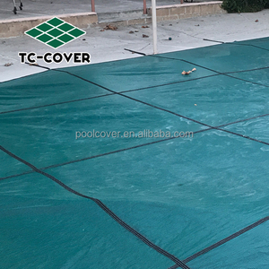 Anti-UV mesh swimming pool cover for outdoor pool