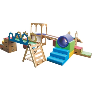 2017 High Quality Climbing Sensory Training Children Indoor Wooden Slide  For Sale For Kid Game