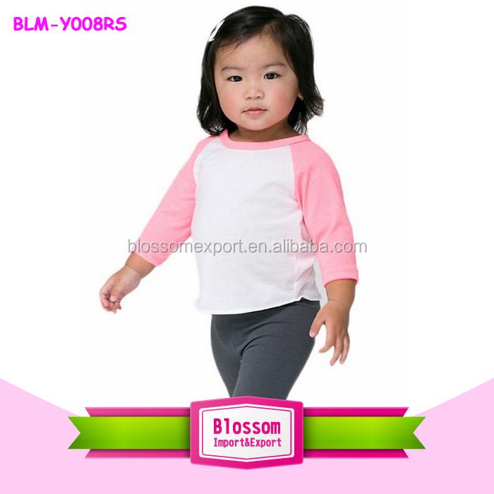 f0bffa662ad Wholesale Baby Clothes Plain Blank Baby Raglan Baseball T Shirts Cotton  Unisex 3 4 Raglan Kids Shirt - Buy Raglan Kids Shirt