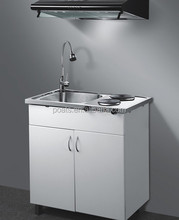 Commercial Kitchen Sink Cabinet 1000*500*900mm Combo Kitchen Units