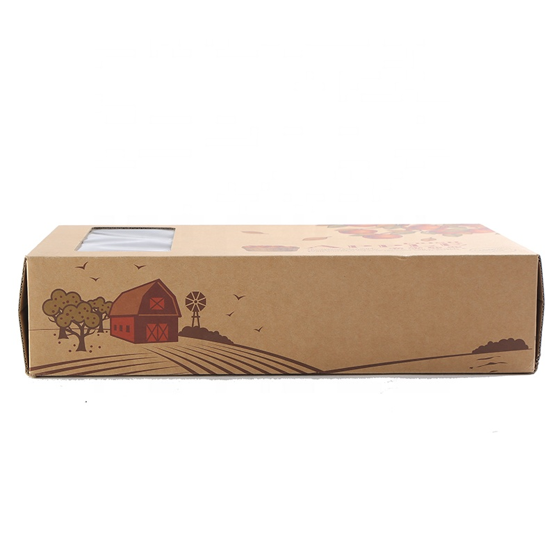 Custom Low cost flat packing corrugated kraft paper a gift box soap box