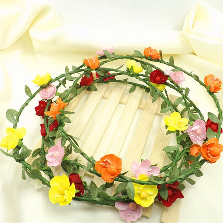 Handmade Decorative Artificial Flower Garland Princess Crown