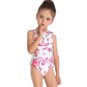 388a4773f5842 New Fashion One Piece Ruffle Sweet Sexy Bikini Kids Swimwear