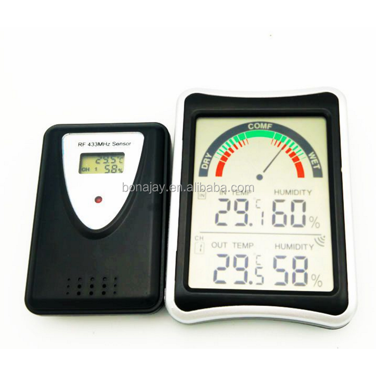 Home storage wireless multi - channel receiving digital electronic hygrometer