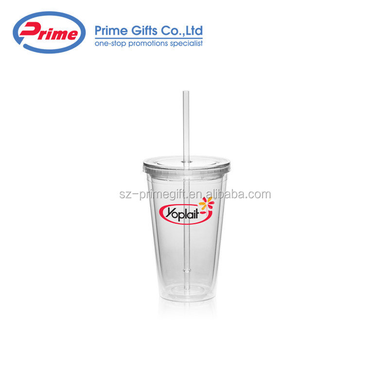Hot Sale Drinkware Clear Plastic Cup with Lid
