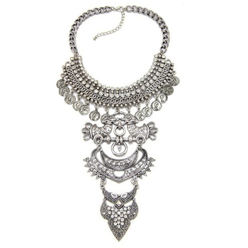 Fancylove jewelry maxi fashion necklace tibetan silver necklace