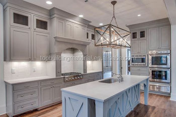 2017 Latest classic white solid wood kitchen furniture design