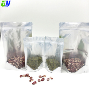 High Barrier Clear/Shiny Silver Mylar Smell Proof Packaging-Bags for Food Coffee Tea Plantain chips