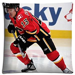Beautiful Cotton Polyester Calgary Flames Zippered Hypoallergenic Home Pillow Shell Cases 18x18 inch 45x45 cm