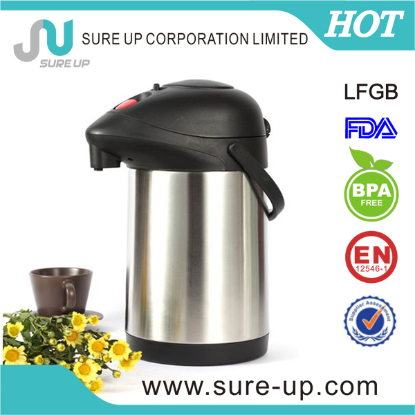 Wide mouth stainless steel double wall vacuum flask coffee pot for dispenser (ASUK)