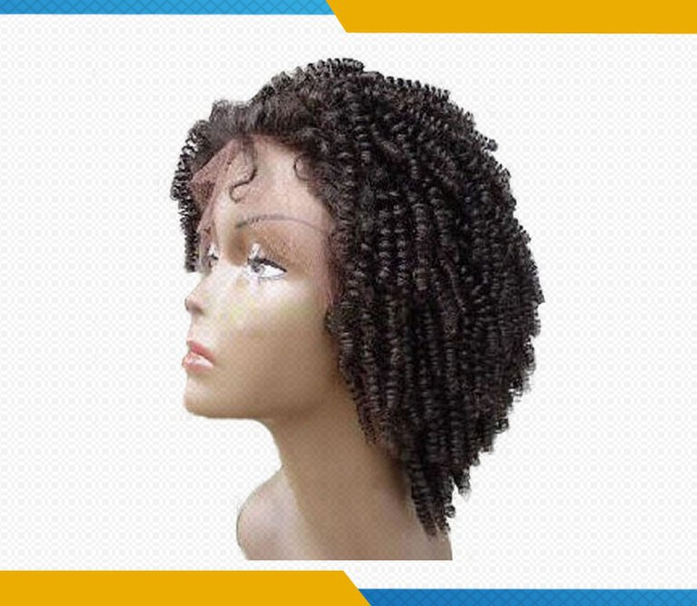 Afro Kinky Curly Natural Color Remy Brazilian Human Hair Short ...