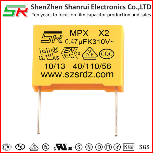 X2 Model MKP/MPX Metallized polypropylene film capacitor 474k 250v