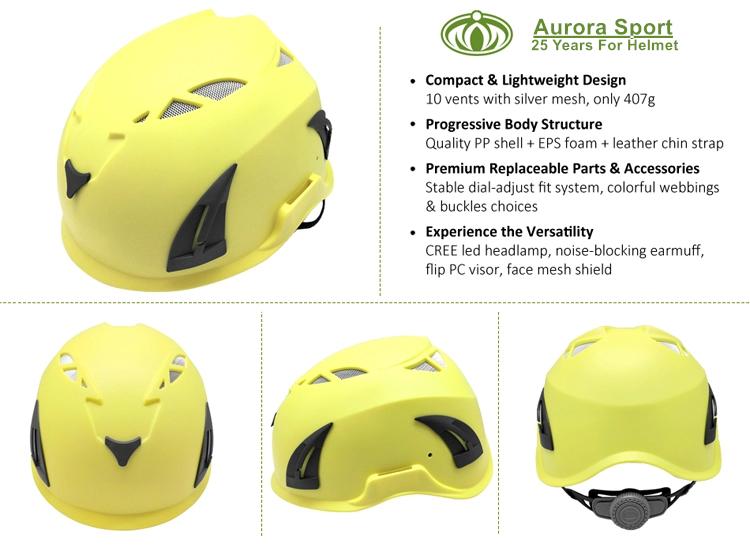 Well Balance Rock Climbing Helmet With EN12492 Certification 4