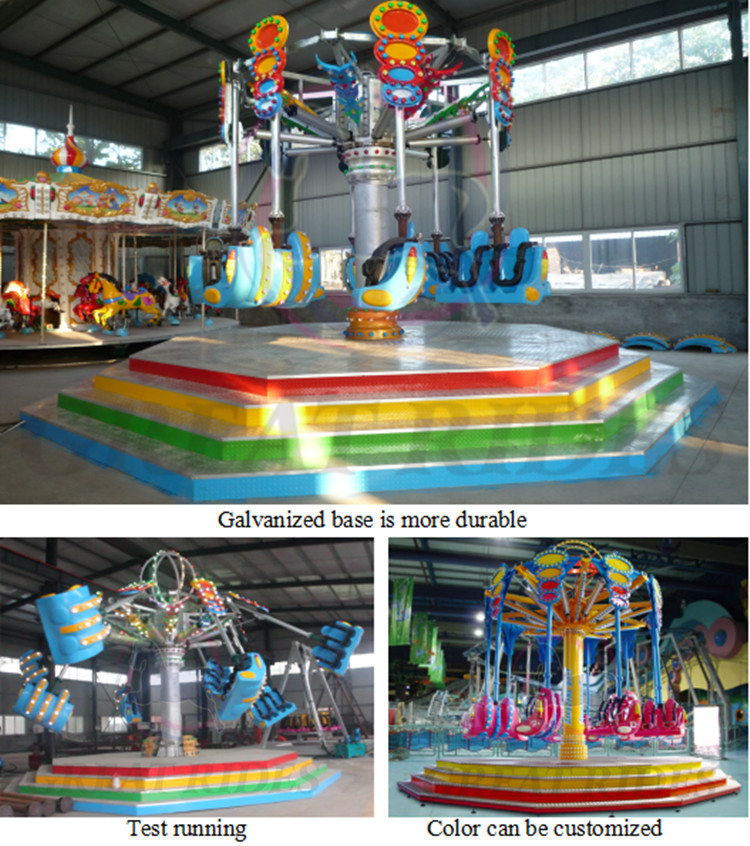 Luna equipamentos emocionante parque de diversões cadeira voando passeios de balanço tiro no ar para venda