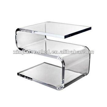 Zigzag Acrylic Side Table Tea Table Acrylic Office Table Coffee ...