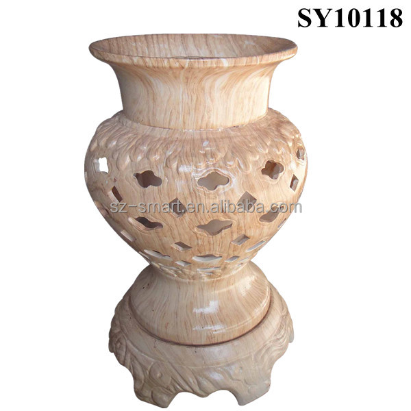 Elegant decorative tall orchid ceramic pot