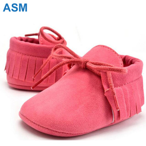 Mix 10 Color Lovely soft baby moccasins import baby shoes china