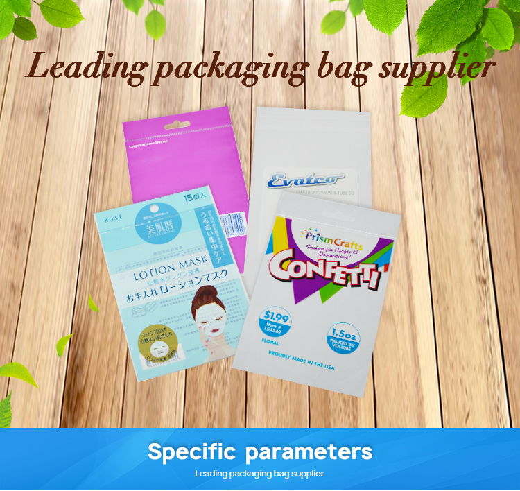أعلى بيع مخصص طباعة على ملصق ذاتي اللصق ختم البلاستيك الشفاف رأس أكياس opp حقيبة