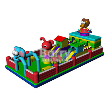 china factory wholesale price, commercial grade backyard kids animal theme inflatable amusement park