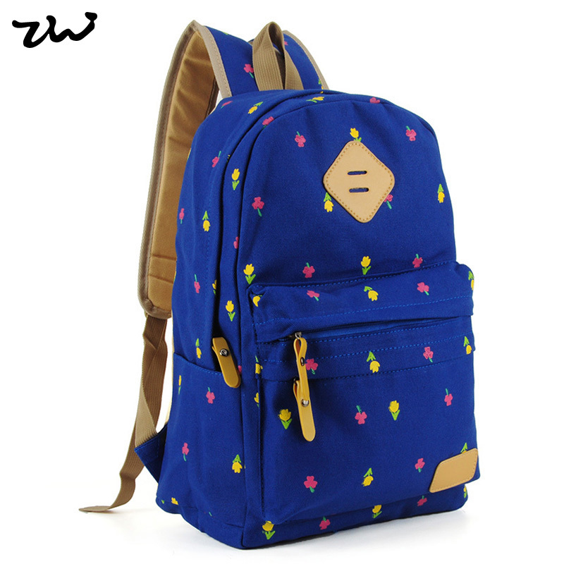 d532fc8c92 Get Quotations · 2015 New Preppy Style Floral Printed Backpack Fashion  School Bags For Girls Students Mochila Shoulder Bag