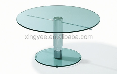 Modern Elegant Dining Room Tables Furniture Stainless Steel Single Leg  Tempered Glass Table Top 4 Seater